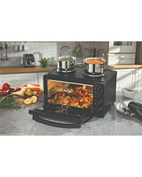 Daewoo 3000W 42L Capacity Electric Mini Oven With Double Hot Plate 90 Min Timer- SDA1610