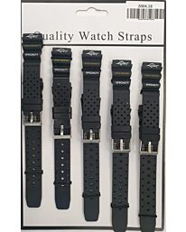 2004 5PK BLACK PU WATCH STRAPS Available Sizes18mm to 22mm