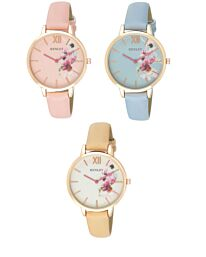 Henley Women's Fashion Designer Leather Strap Watch H06153