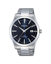 Pulsar Men's Fashion Black Dial Bracelet Watch PS9297X1