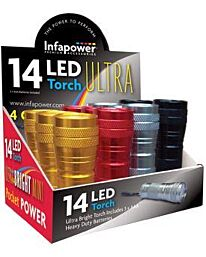Infapower 14 LED Ultra Aluminium Torch (Pack of 12)