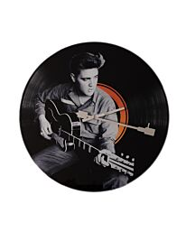 HOMETIME Iconic Collection Record Clock - Elvis with Guitar