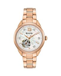 Bulova Women's Analogue Mechanical Watch with Stainless Steel Strap 97P121