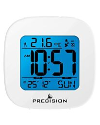 Precision Radio Controlled LCD Alarm Clock in White AP058