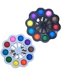 1x Pop It 2 In 1 Fidget Spinner & Stress And Anxiety Relief Sensory Toy GM-1153- Assortment
