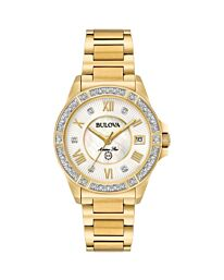 Bulova Women's Analog-Quartz Marine Star PVD Gold plated Watch with Stainless-Steel Strap 98R235