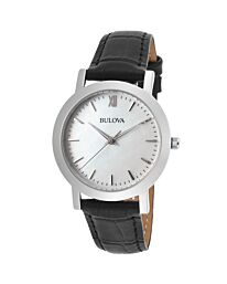 Bulova White Mother of Pearl Dial Ladies Watch 96X132