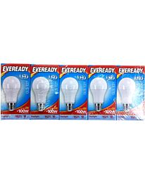 Eveready LED Candle 1521LM GLS E27  Day Light 100W Pack of 5