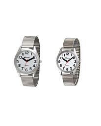 Ravel Mens & Ladies Expander Bracelet Watch Silver R0225.01