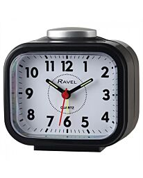 Ravel Rectangular Beep & Bell Alarm Clock Black RC030.3