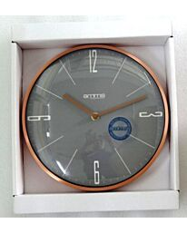 MT1688RG AMMS COPPER RING METAL WALL CLOCK WITH GREY DIAL
