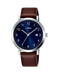 Lorus Gents Classic Analogue Leather Strap Watch RH939JX9