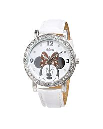 Disney Minnie Mouse Women's Analogue Quartz Watch with Polyurethane Strap - MN1149 (White)
