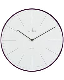 Acctim 29446 Koppen 30cm Domed Wall Clock Acctim Colour: Aubergine