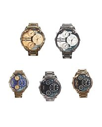 NY London Men's Big Dial with 3 dial Watch PI-7409 Available Multiple Colour