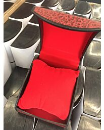 Watch Box Red D Shape with cushion