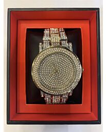 NY LONDON GENTS BLING WATCH SILVER.GOLD