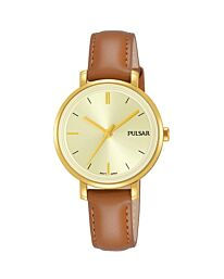 Pulsar Womens Analogue Brown Leather Strap PH8364X1