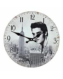 Widdop Hometime Elvis wall clock MDF wood W7866