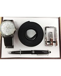 Geneva Gents Watch, Pen & Belt Set 27124