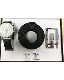 Geneva Gents Watch, Belt & Cuff Link Set 27127