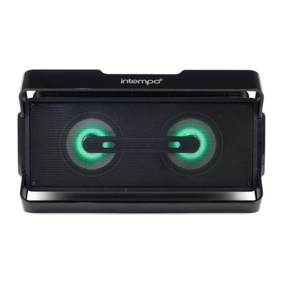 Intempo LED Bluetooth Boombox Speaker